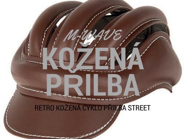 M-WAVE – kožená retro přilba Street